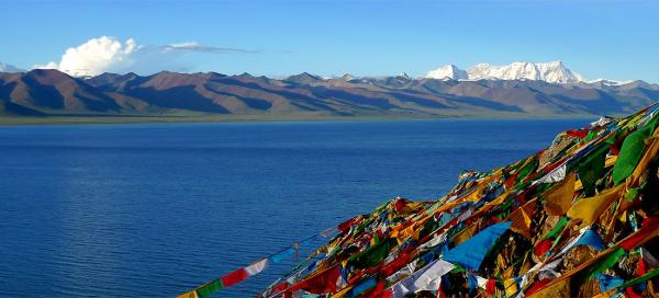 Sacred places by Lake Namtso