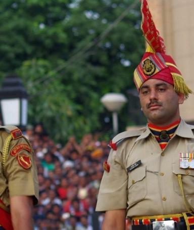 Ceremony on Wagah-Atari border