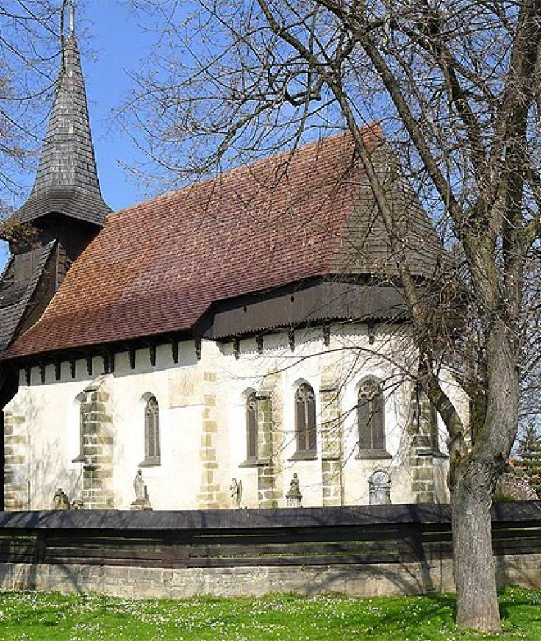 Visit of Wooden church in Koci