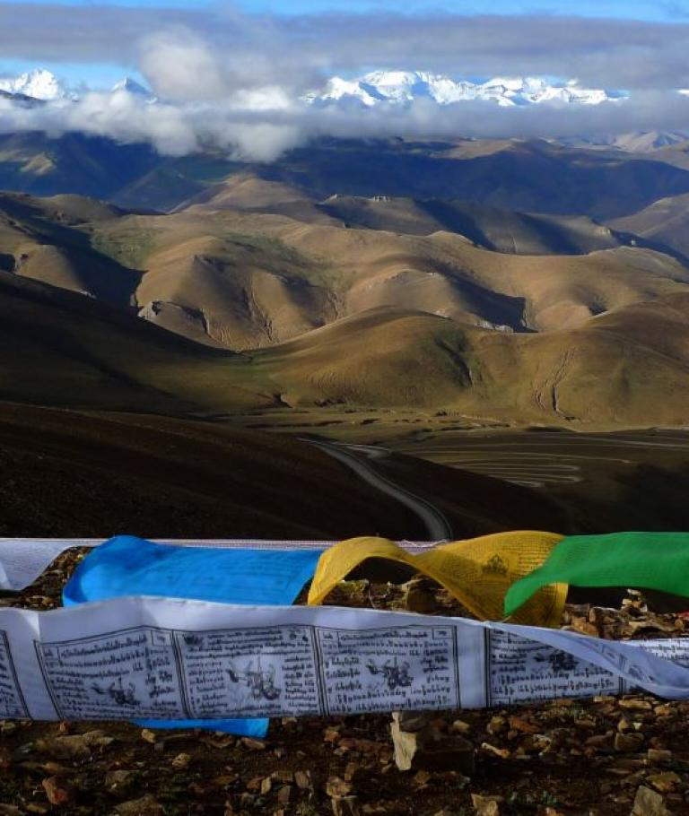 The highest road passes in Tibet