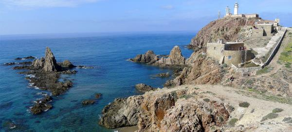 Cliffs at the lighthouse in Cabo de Gata