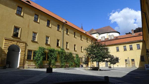 A large courtyard of Jicin castle