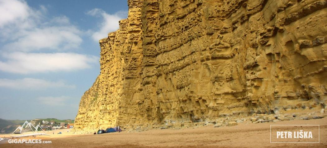 Golden cliff in Westbay