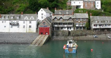 The small town of Clovelly
