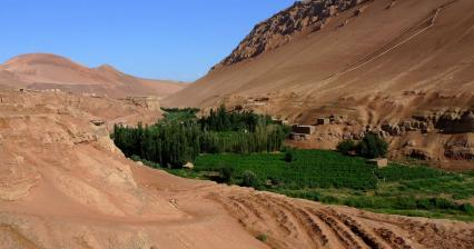 Flaming mountains in Turfan