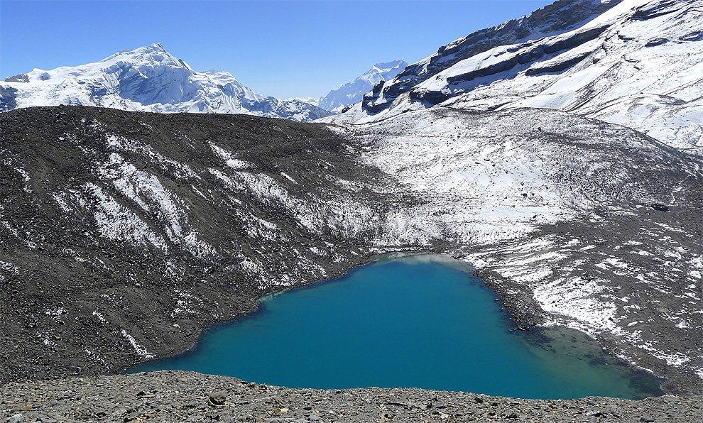 Lake in the pass