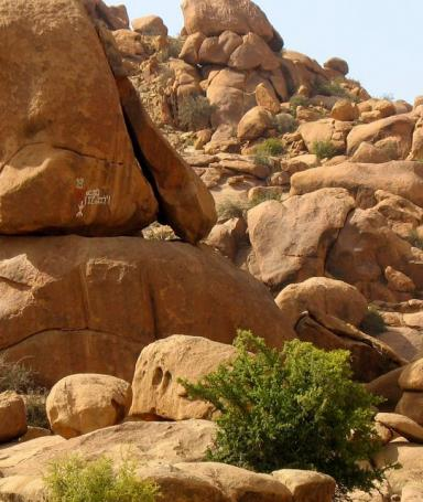 Rock formations at Tafraoute