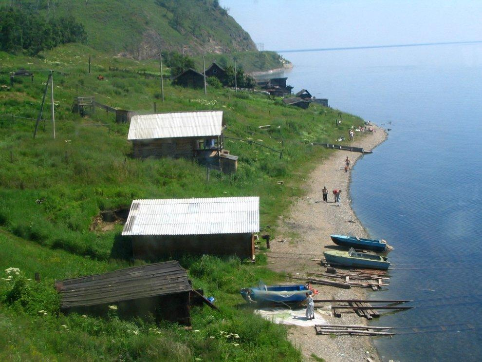 Villages on the shore of Lake Baikal