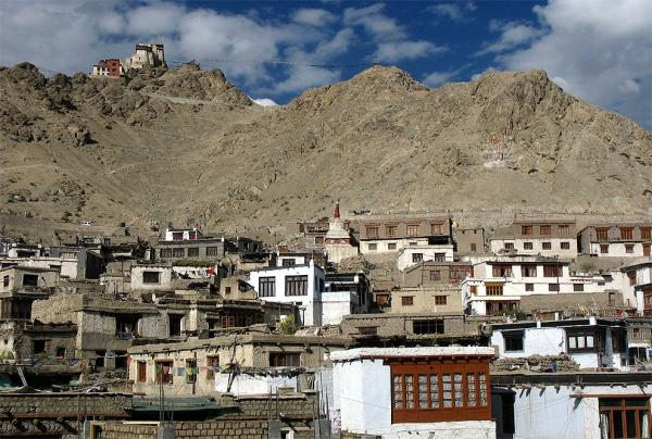 View of the gompa from the old town