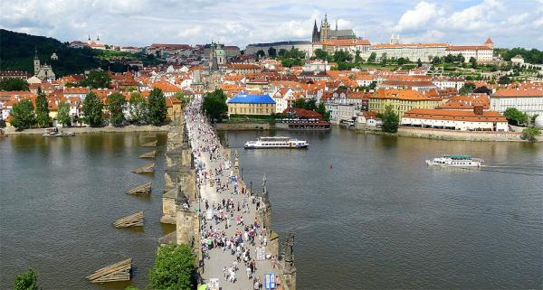 Charles Bridge from the Old Town Bridge