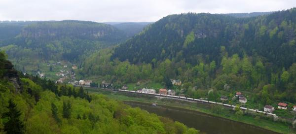 Canyon of Elbe River