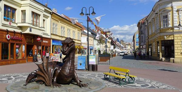Husova street and fairytale dragon