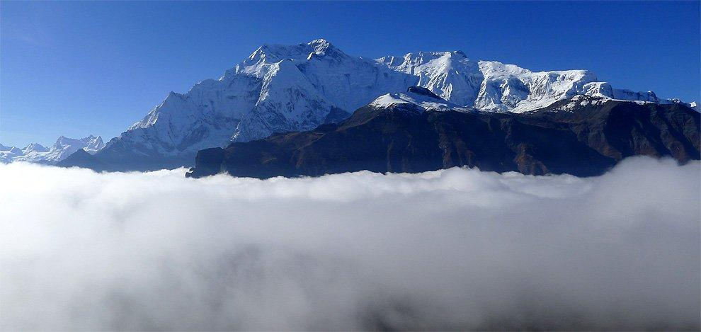 Annapurna II. and IV. above the clouds