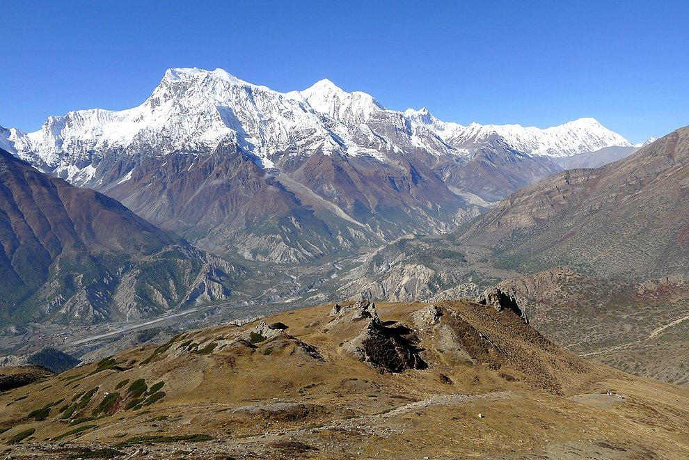 Panorama of Annapurnas