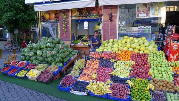 Ample offer of fruit