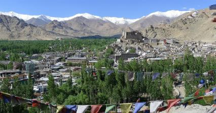 Leh and valley of Indus