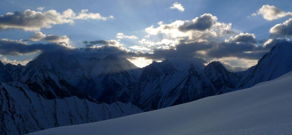 View of Gasherbrum 1 and 2