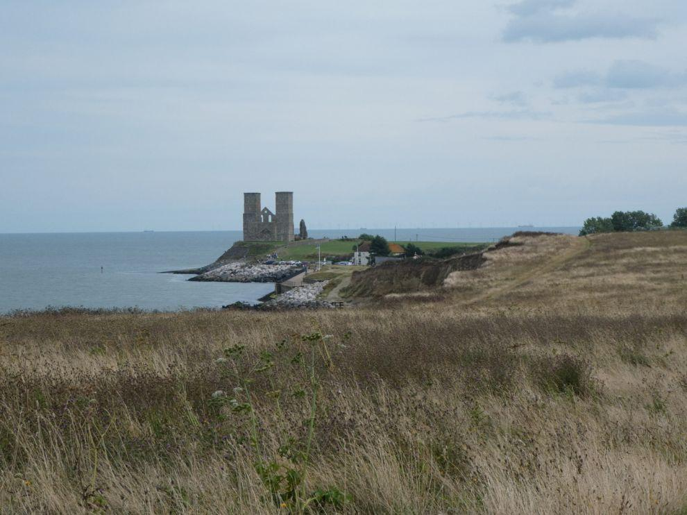 Výhled na ruiny Reculver Tower