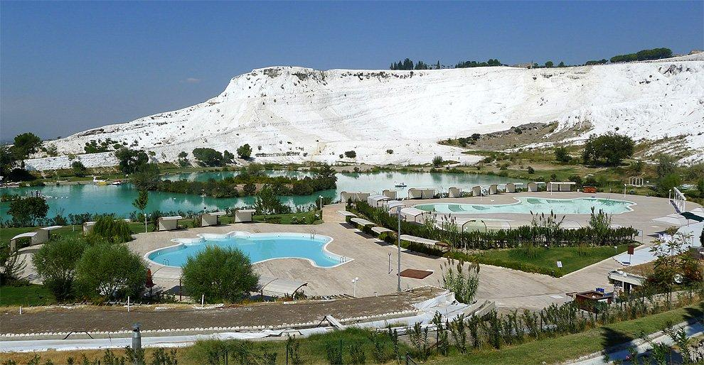Pamukkale from below