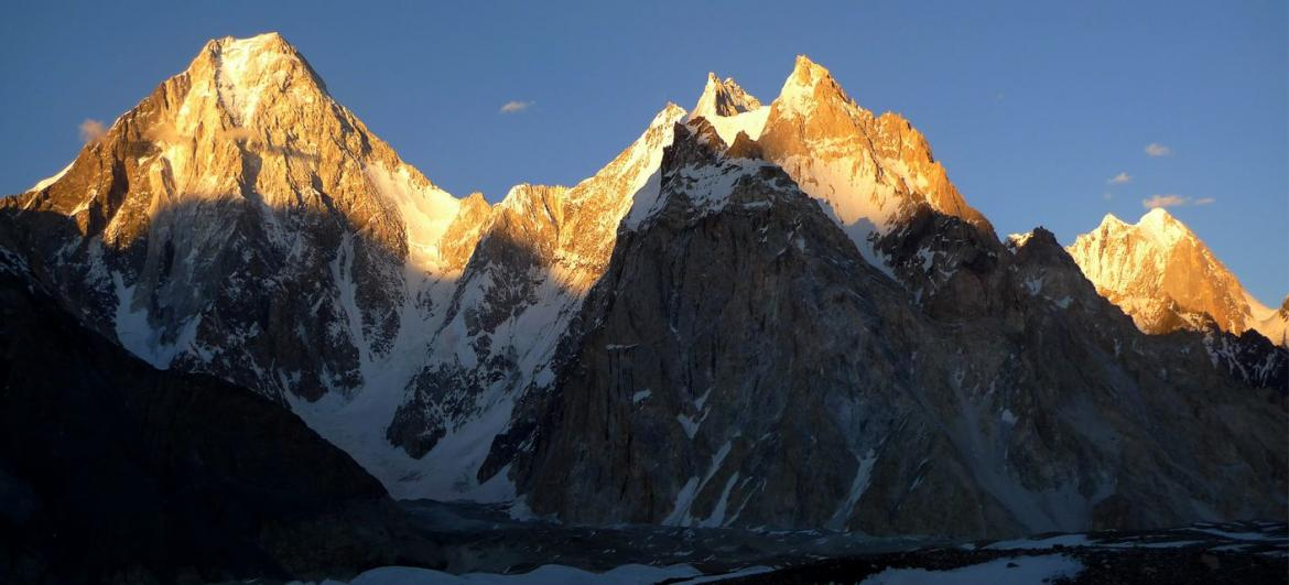 The highest mountains of Pakistan