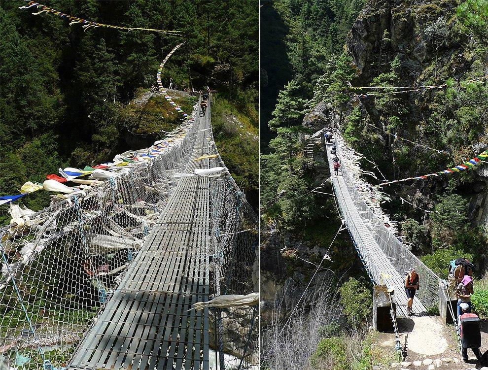 The highest bridge over Dudh Khosi