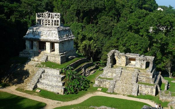 Temples in Palenque