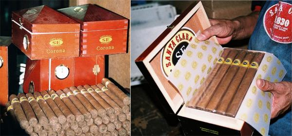 Final packaging of cigars