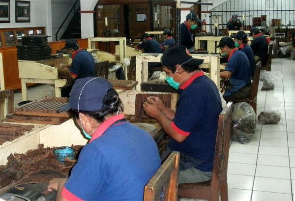 In the cigar factory