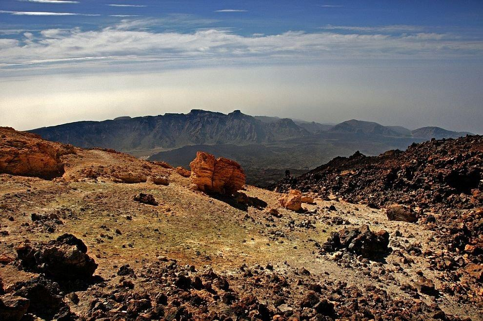 Below the peak of Teide