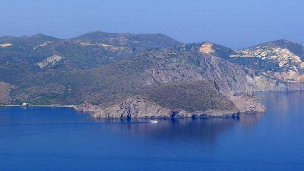 The western part of the island Milos