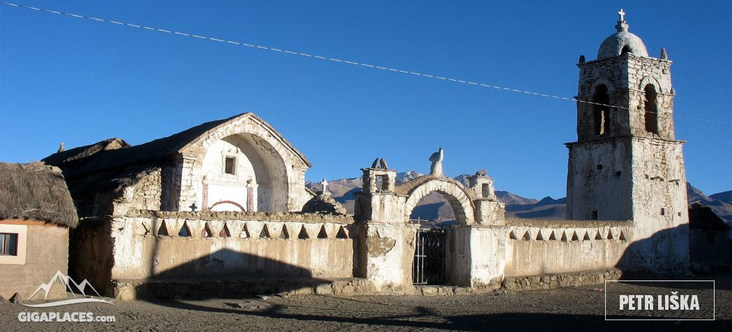 The picturesque church in Sajama