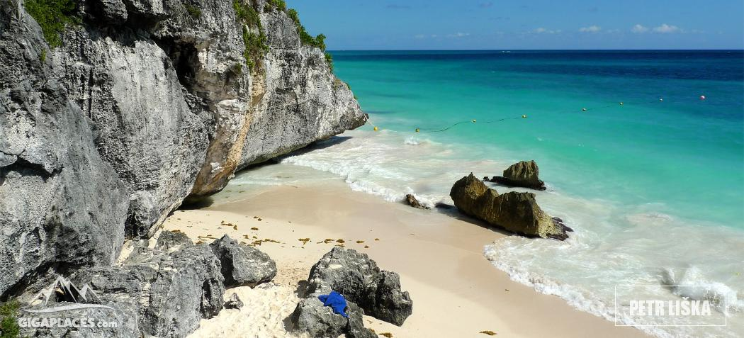 Beach in Tulum ruins