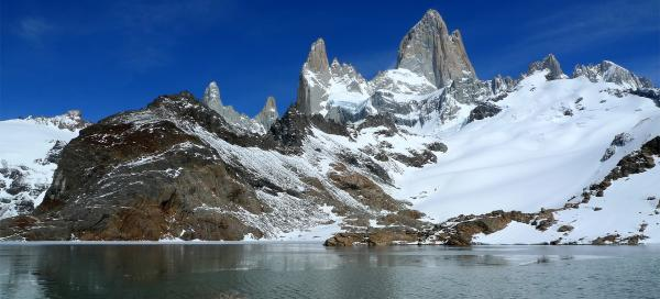 Hiking below Fitz Roy