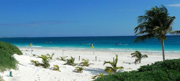 Visit of beach in Tulum