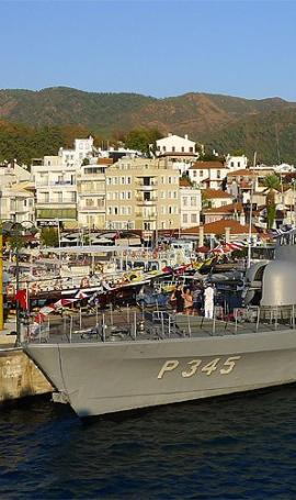 Walk in the port in Marmaris