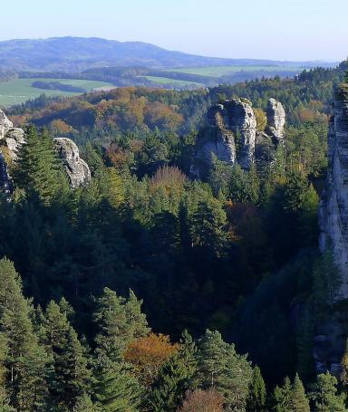 Hike through the rocks of Hruboskalsko