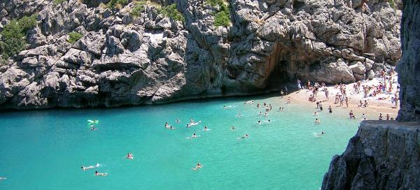 Swimming in Sa Calobra